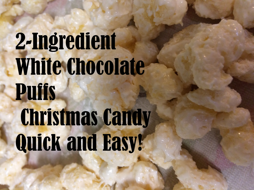White Chocolate Puffs Christmas Candy
