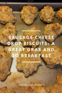 sausage cheese drop biscuits