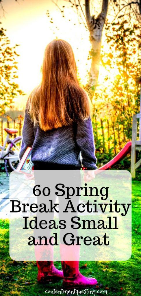 spring break activities template 1 pin