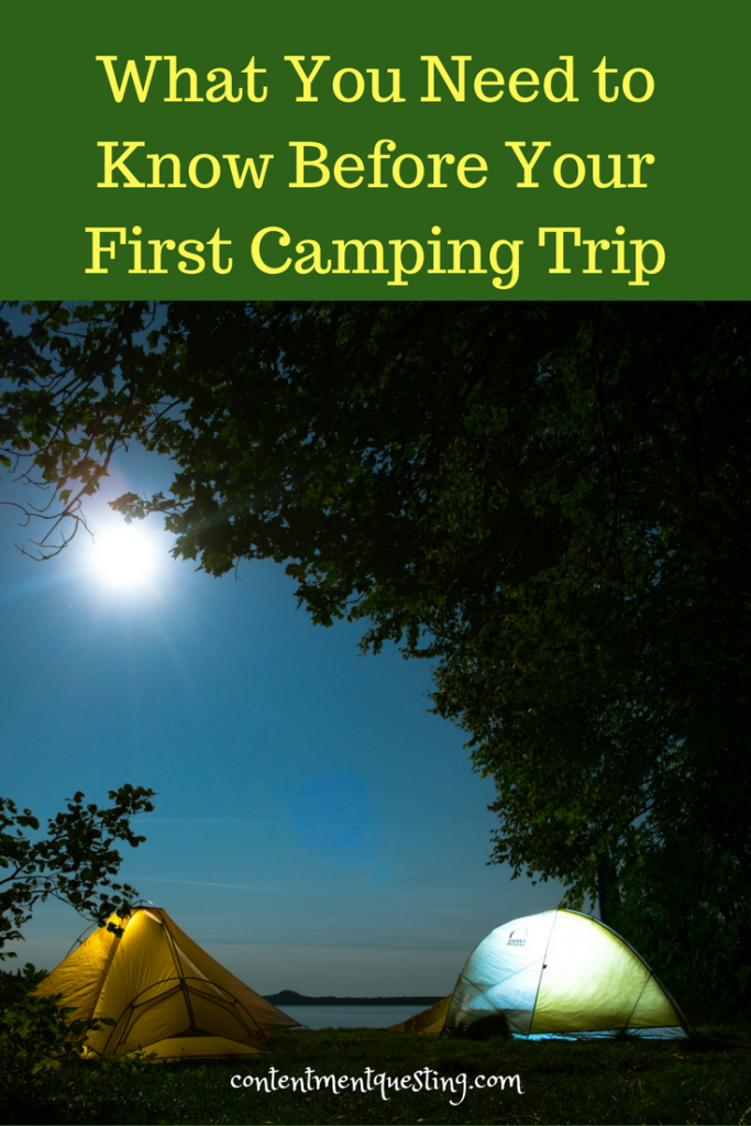 camping 101, first camping trip, great outdoors