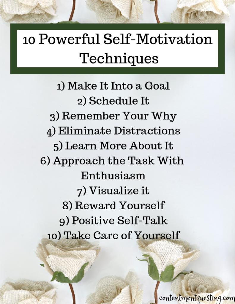 10 Powerful Self-Motivation Techniques | Contentment Questing