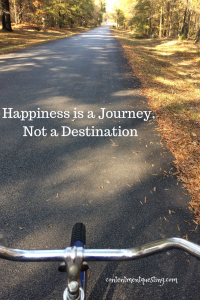 Happiness is a journey, not a destination, enjoy the journey, happiness, happy, quote, happiness quote, contentment questing