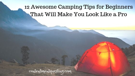 12 Camping Tips for Beginners Blog banner