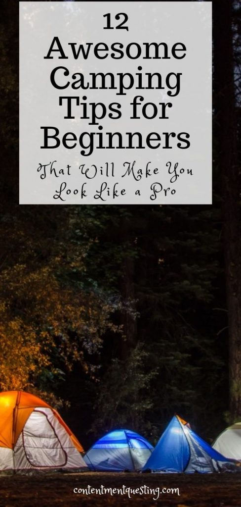 Camping Tips for Beginners Pin 1