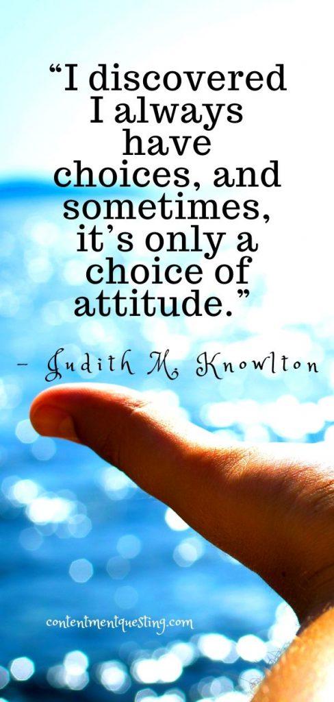choice of attitude quote Judith