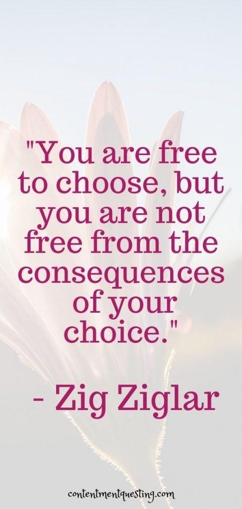 choices quote zig ziglar