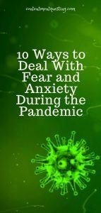 10 ways of dealing with fear pandemic temp2 green virus pin