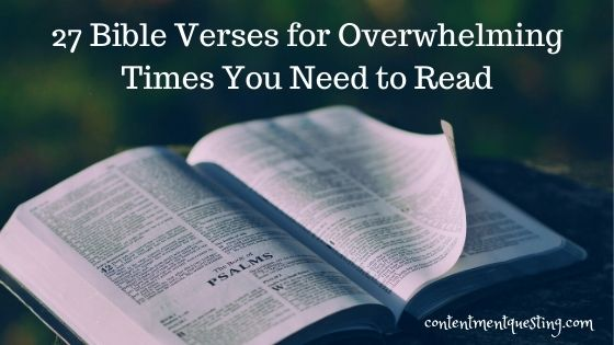 Bible verses for overwhelming times blog banner